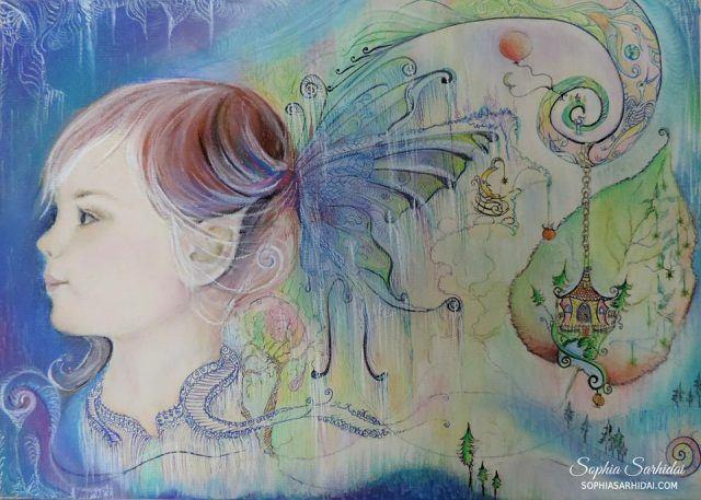 Sophia Sarhidai: Fairy child drawing