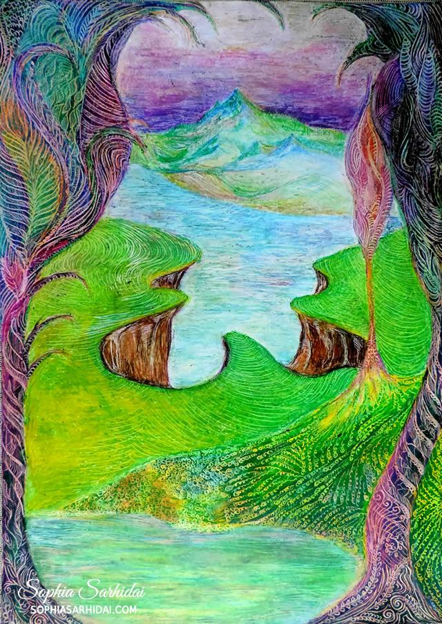 Sophia Sarhidai: Fantasy landscape drawing