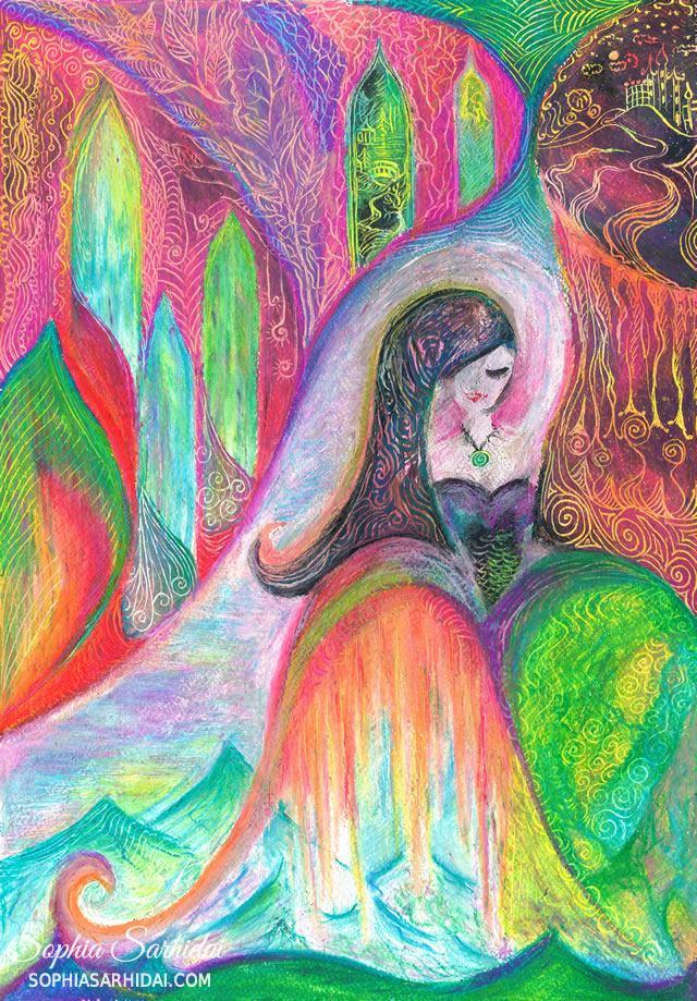 Sophia Sarhidai: Fairy castle drawing
